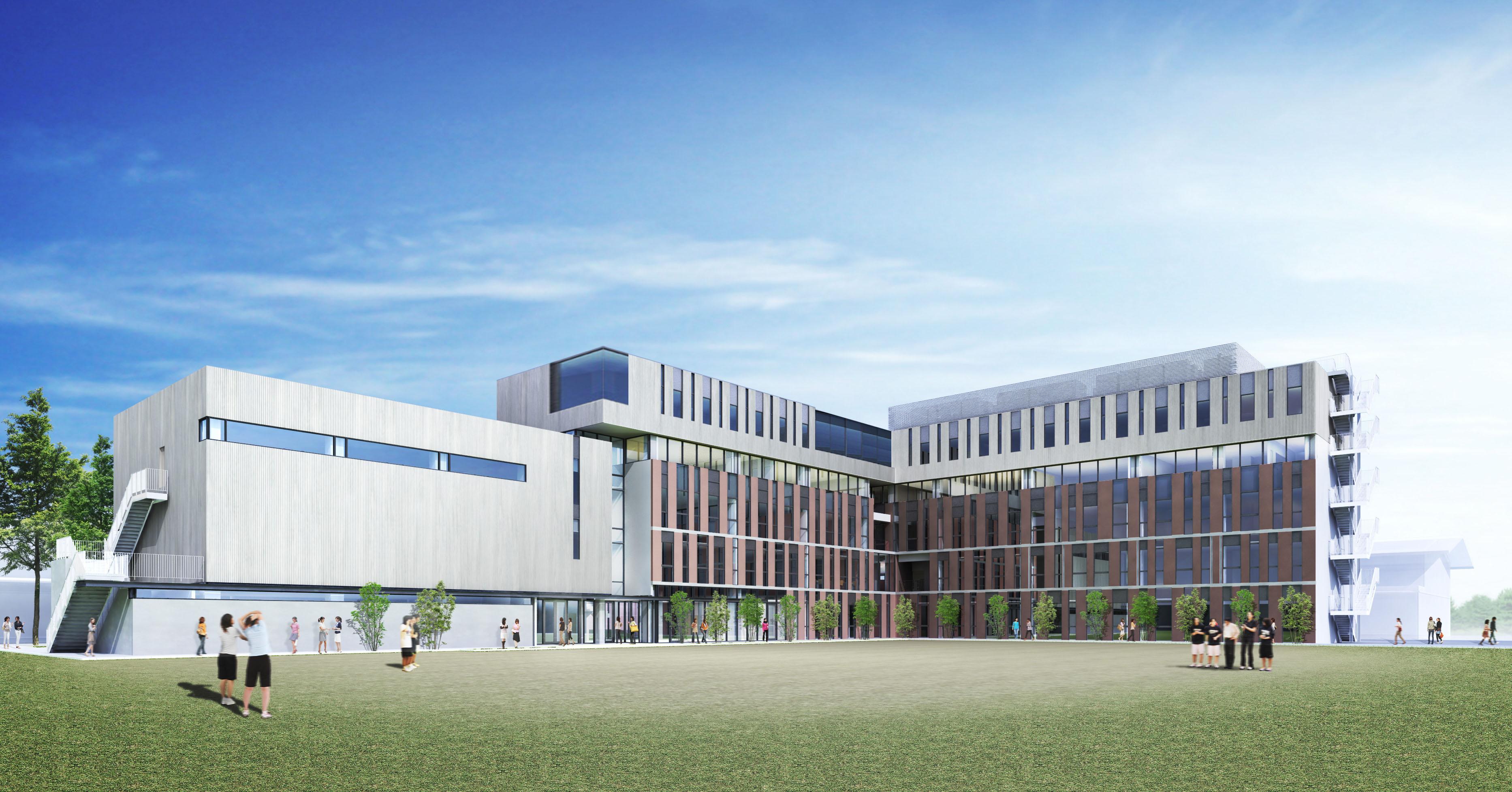新校舎(グランド側全景)